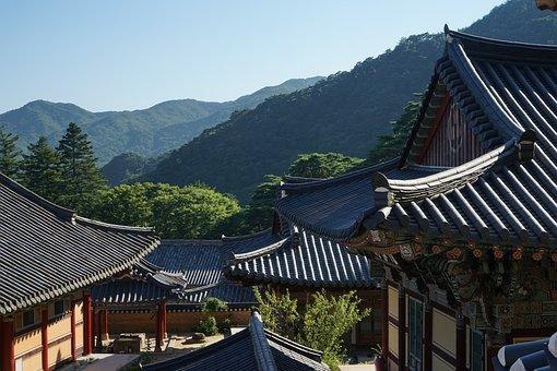 Hapcheon, Year Greetings, Mountain, Roof, Asian Style