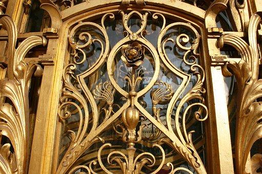 Golden Gate, Golden Flower, Art Nouveau, Petit Palais