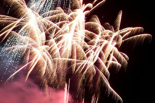 Fireworks, New Year's Eve, Night, Pyrotechnics