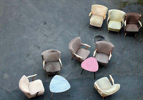 Chair, Vintage, Coctail Armchair, Furniture, Design, 50