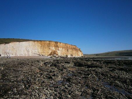 Coast, Sea, Stones, Rock, White Cliffs, United Kingdom