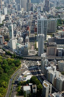 City, Tokyo, Skyscrapers, Dare, Intersection, Japan