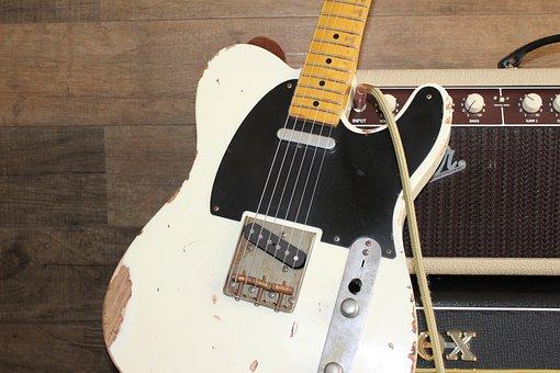 Guitar, Amplifier, Fender, Telecaster, Music, Rock