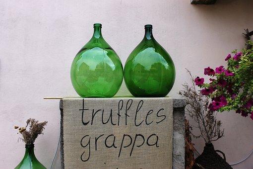 Bottles, Grappa, Green, Piston