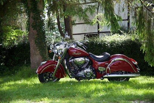 Motorcycle, Indian, Retro, Springfield, Vintage