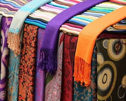 Scarves, Shawls, Cotton, Silk, Colorful, Patterns