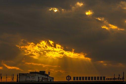 Sky, Clouds, Sunset, Fire, Nature, Amazing, Beautiful
