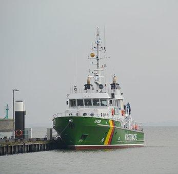 Coast Guard, North Sea, Wilhelmshaven, Customs, Police