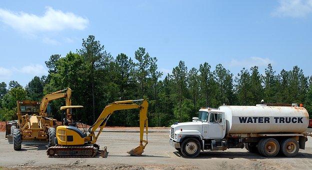 Construction Site, Heavy Equipment, Backhoe