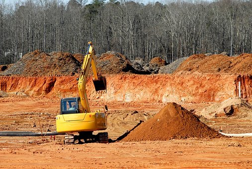 Construction Site, Heavy Equipment, Dirt Mover