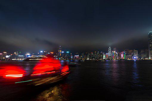 Hong Kong, Peek, Night, Long Exposure, Lights