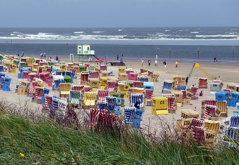 Beach, North Sea, Clubs, Holiday, Sand, Sea, Dunes