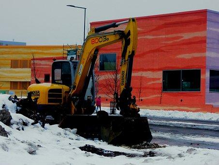 Loader, Shovel, Machine, Building, Vantaa, K, Finnish