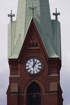 Finnish, Mikkeli, Cathedral, Clock, Steeple