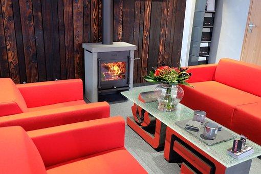 Fireplace, Stove, Interior, Design