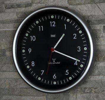 Clock, Wall, Time, Time Piece, Dial, Rim, Metal