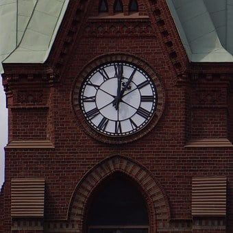 Finnish, Mikkeli, Cathedral, Dial, Clock, Hands, Time