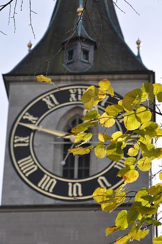 Clocktower, Zurich, Clock, Tower, Switzerland, Europe