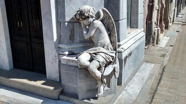 Tomb Art, Sculpture, Angel, Cemetery, Recoleta Cemetery