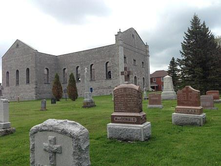 Churchyard, Cemetery, Ruins, Graveyard, Burial