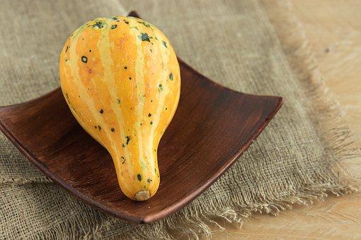 Pumpkin, Yellow Pumpkin, A Vegetable, Ornament