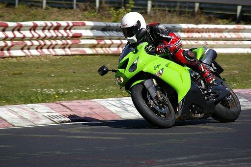 Kawasaki, Motorcycle, Nordschleife, Man, Supersports