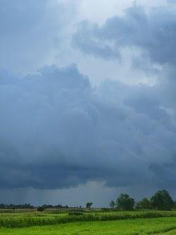 Thunderstorm, August, Clouds, Sky, Storm, Summer