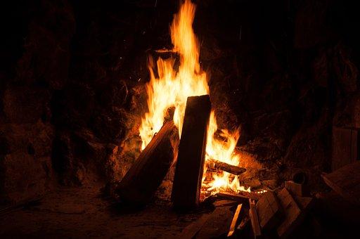 Open Fire, Fire, Wood, Burn, Blaze, Flame, Fireplace