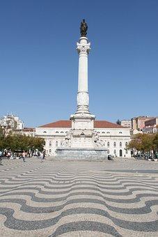 Rossio Square, Low, Lisbon, Portugal