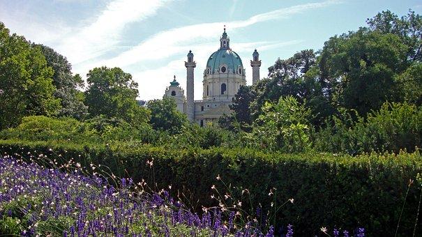 Vienna, Austria, Karlskirche, Karlsplatz, Church