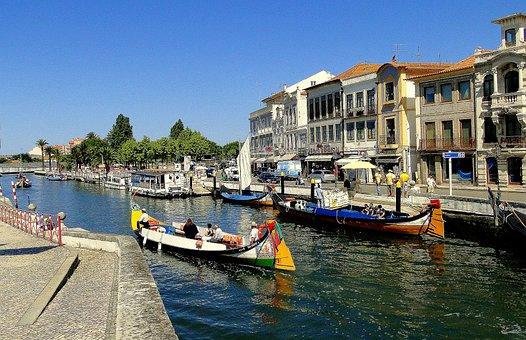 Aveiro, River, Shipping, Portugal