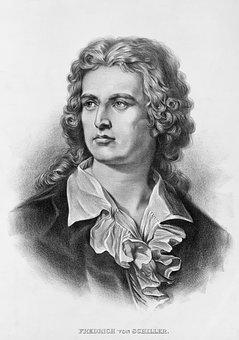 Friedrich Schiller, Poet, Writer, Black And White