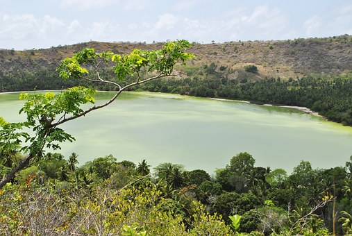 Mayotte, Indian Ocean, Dziani Lake, Landscape