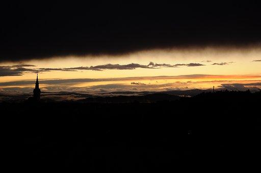 After A Rain Weather, Rainy Weather, Sunset, Sun, Mood