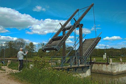 Drawbridge, The Nivernais Canal, Nièvre, Water Courses