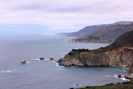 California, Coast, Orean, View, Sr1