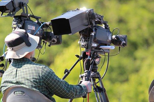 Camera, Cameraman, Broadcasting, Shooting, Video Camera