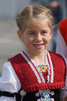 Cattle Show, Appenzell, Village, Costume, Girl Costume