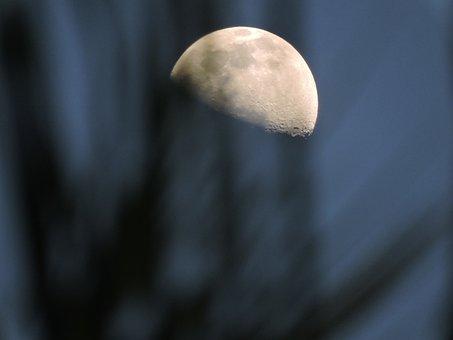 Moon, Ilhabela, Litoral, Night, Nature, Astro