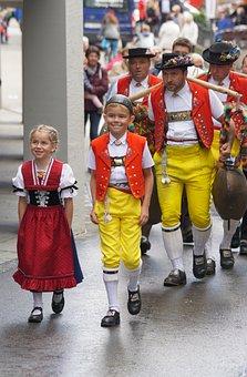 Cattle Show, Appenzell, Village, Sennen, Costume