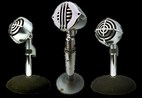Microphones, Radio, Sound, Reportage, Broadcast