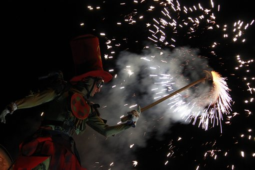 Show, Bengal, Sparks, Costume, Pyrotechnics, Firework