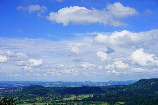 Swabian Alb, Witness Mountains, Viewpoint, Mörike Rock