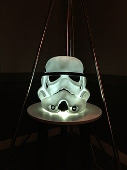 Stormtrooper, Lamp, Dark, Scary