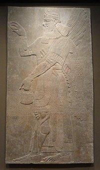 Assyrian, Relief, Ashurnasirpal, Palace, Museum