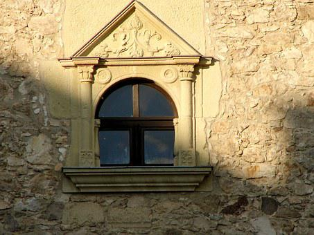 Window, Castle, Sárospatak, Vista, Light, Shadow