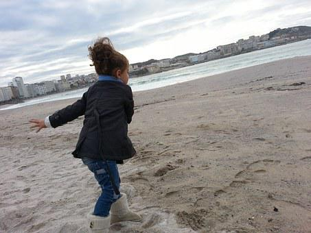 Girl, Beach, Coruña