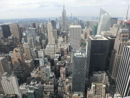 New York, Usa, Skyscraper, On Top Of The Rock, America