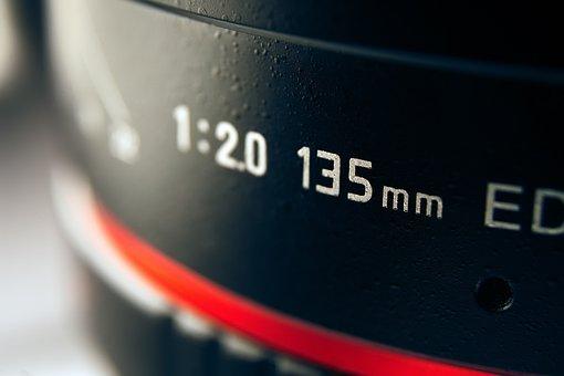 Photo Lens, 135mm, Black, Equipment, Film, Focus, Glass