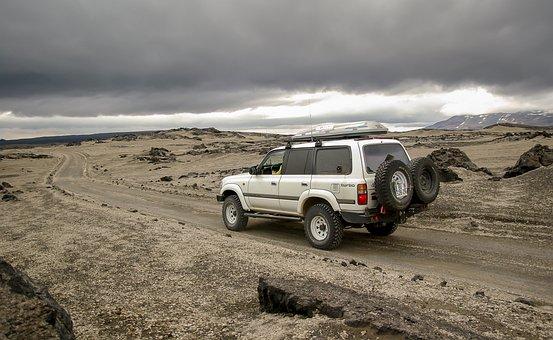Iceland, Askja, Desert, Volcanism, Lava, Toyota 4x4
